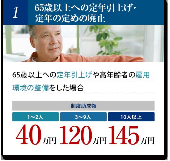 65歳以上への定年引上げ・定年の定めの廃止